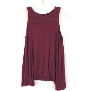 AEO Soft & Sexy tank lace yoke top swing knit